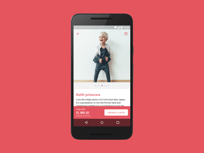 Item with Cart clothes android material design cart store