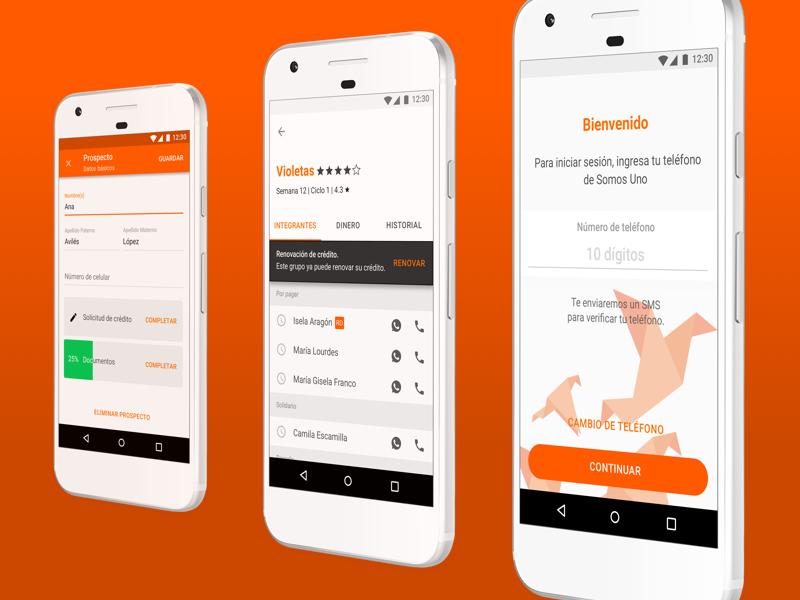 Credit Advisors app financial credit material design android