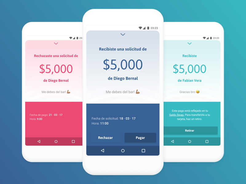Transaction Receipts receipt transaction material design android