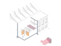 San Isidro Sugar House Axonometric