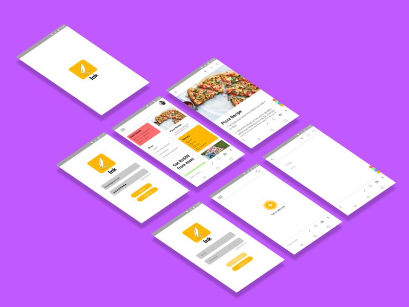 Ink app design ui dailyui