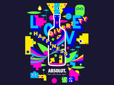Absolut Diversity Contest Entry vodka alcohol happiness love equality diversity absolut