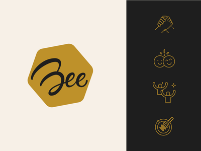 Bee Logo and Icons beer advertising agency bucharest bee events bee