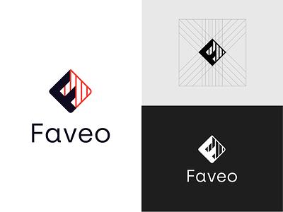 Faveo Logo technical engineering branding logo construction faveo