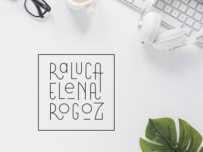 Raluca Elena Rogoz - Personal Branding logo design portfolio brand design branding custom font logotype logo personal branding
