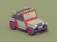 Jurassic Park Jeep [low poly]