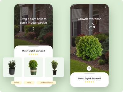 Gardening AR App Concept mobile app gardening concept app ux user experience user interface ui ar augmented reality