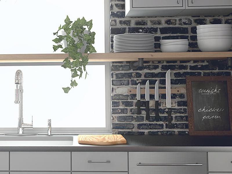 IKEA-inspired Kitchen modern sink kitchen interior arch-viz realism 3d cinema 4d