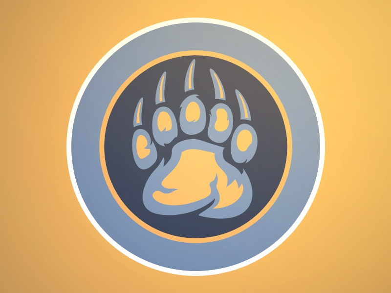 Grizzly Bear Blues Logo sports illustration memphis grizzlies logo claw bear