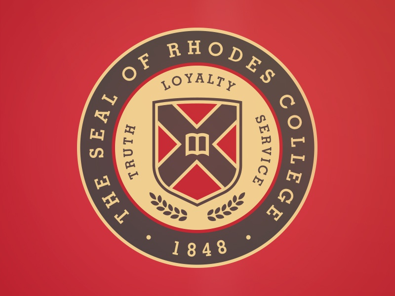 Rhodes College Seal crest university seal memphis rhodes college