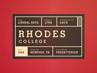 Rhodes College Tag