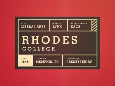 Rhodes College Tag