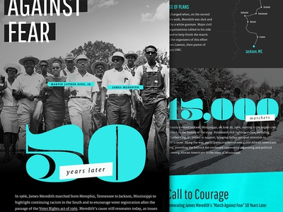 A Call to Courage black and white historical march website civil rights