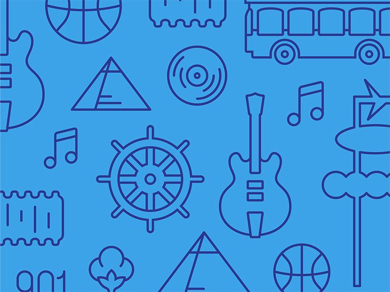 Memphis Pattern pattern icons memphis