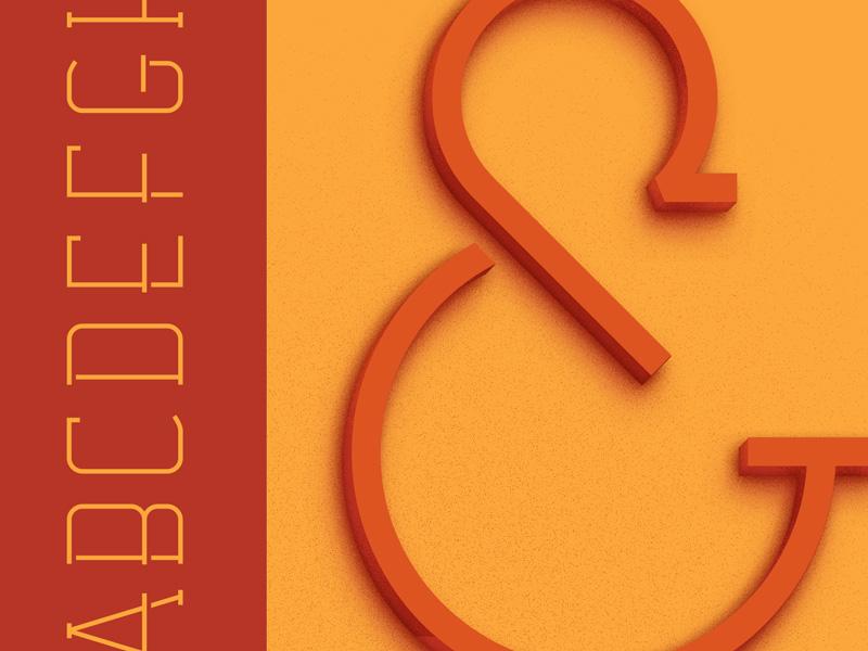 Casino ampersand deco font specimen typeface type