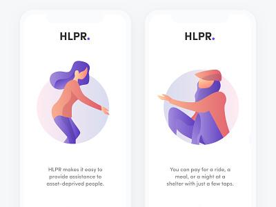HLPR Onboarding Illustrations ui app illustration onboarding