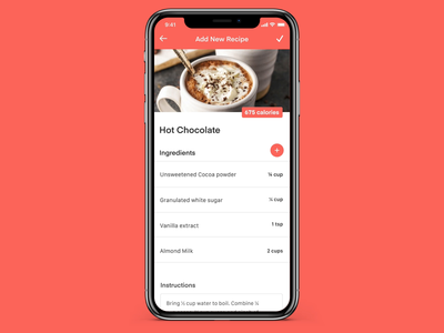 Meal Planner Concept: Recipe Builder