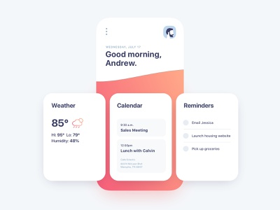 Today App cards product design app ui design ui