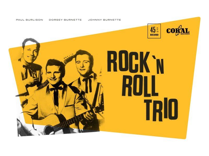 The Rock 'n Roll Trio memphis yellow music rock and roll rockabilly mid-century