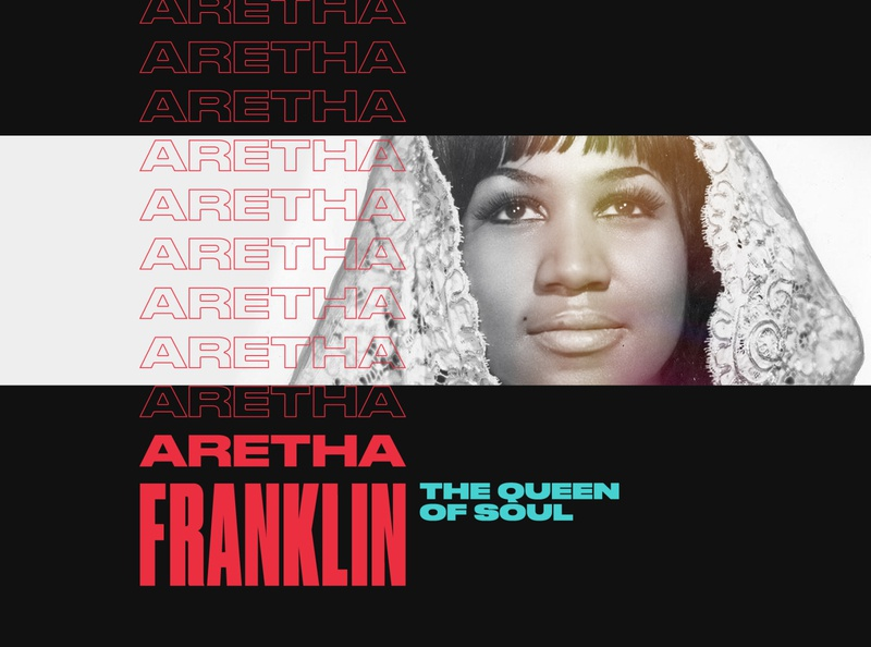 Aretha typography webdesign artist portrait druk music aretha franklin