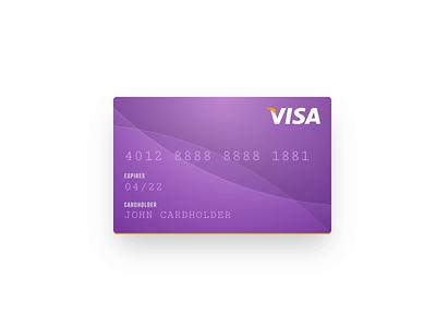 Interactive Credit Card Form prototyping ux ui design ui form checkout visa purple parallax tilt javascript css html coded interactive payment credit card interaction design