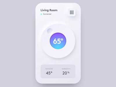 Neumorphic Thermostat