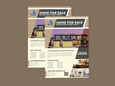 modern real estate flyer for free psd download