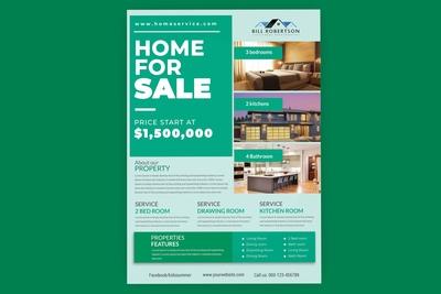 Clean, Elegant & Modern Real Estate & Property Flyer Template