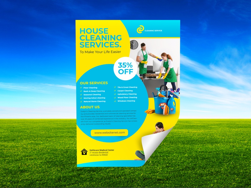 Cleaning Services Flyer Template By
