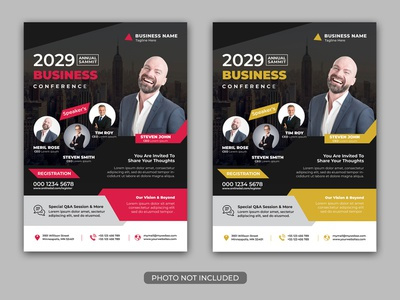 Business Conference Flyer Template expo event flyer event corporate flyer corporate convention conference company business annual