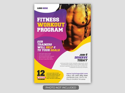 fitness Gym Flyer Tamplate