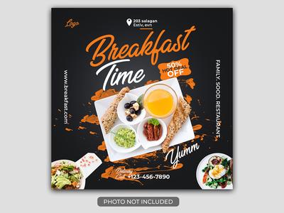 Restaurant food Banner - Social Media Post Template