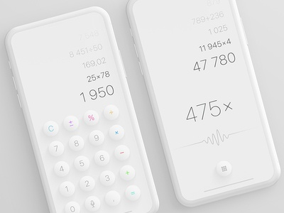 Calculator app with voice recognition recognition voice calculator dailyui