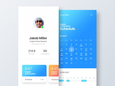 User profile & time schedule user profile shcedule dailyui