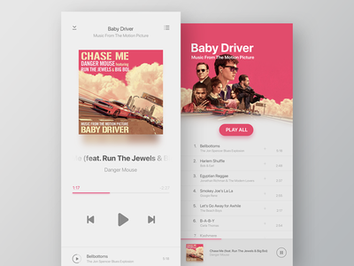 Music Player driver baby soundtrack movie dailyui player music