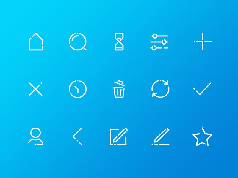 Set of icons for Lend it app lend it app ui icons