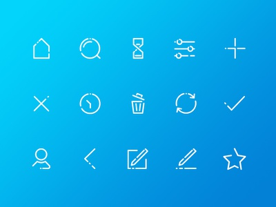 Set of icons for Lend it app lend it app ui icons