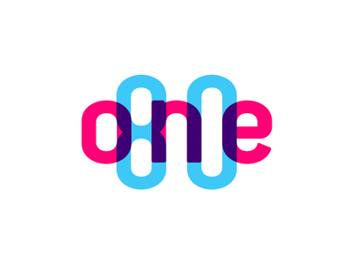 One80 logo multiply color effect design logo
