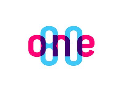 One80 logo multiply color effect design logo