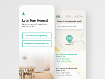 Show Me Home App Design ios maps app