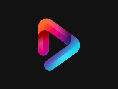 Logo for a entertainment brand logo play