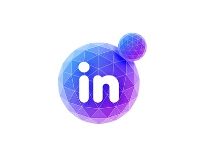 in logo gradient logo mesh sphere