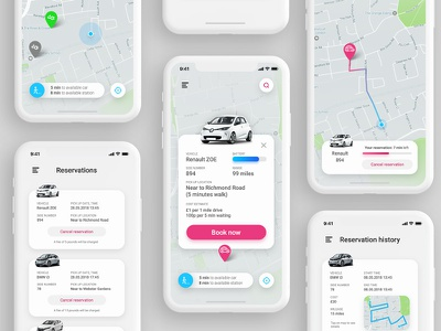 Electric cars booking app iphone app automotiv