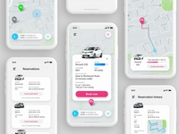 Electric cars booking app
