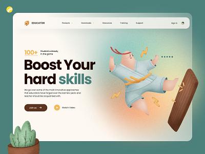 Elearning platform design concept adaptable knowledge skills career professional schedule app web education platform learning online branding solution design concept ux design ui