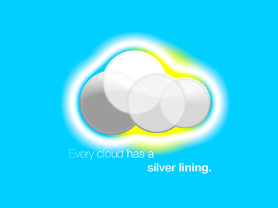 Every cloud has a silver lining. sun sky round grey white blue lining silver a has cloud every