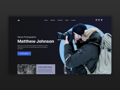 Nature Photographer Personal Website