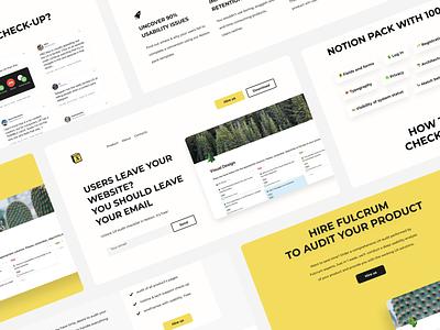 Landing for free DIY UX audit website web ui minimal ux design