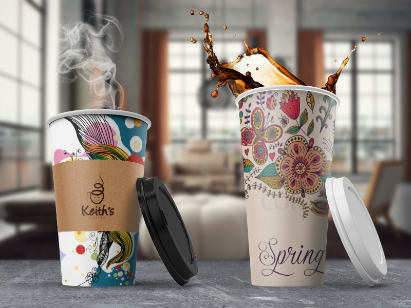 Coffee Cup Mockup coffee cup mockup showcase preview latte design cover brand branding logo coffee shop