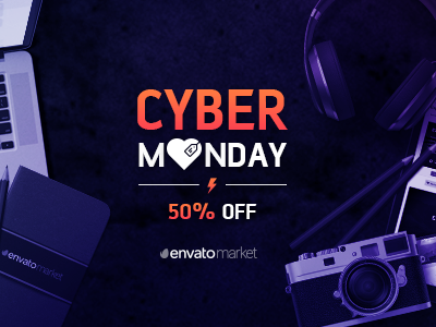 Cyber Monday assets mobile website graphics design templates web monday cyber